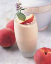 berry peach smoothie Healthy High Protein Drinks For Kids